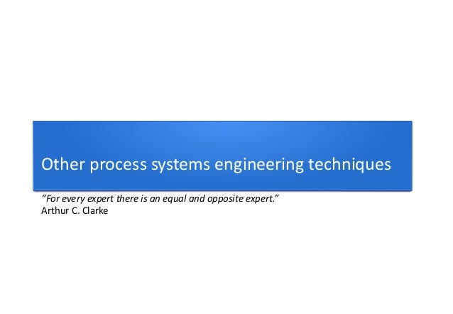 lesson 31 the systems engineering process Course title: system engineering principles part a: course overview • describe, investigate and analyse complex engineering systems and associated issues.