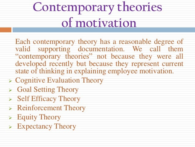 cognitive evaluation theory in the workplace Social cognitive theory emphasizes how  it is good to note that schools are based on the evaluation of students by comparing individual performance to the group.
