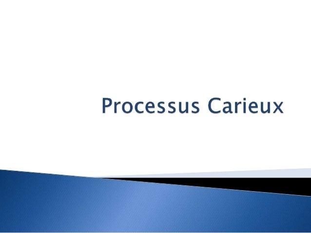 I. Définition de la carie  II. Etiologies  III. Anatomie pathologique  IV. Nomenclature des cavités