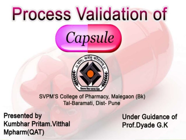 thesis on pharmaceutical process validation