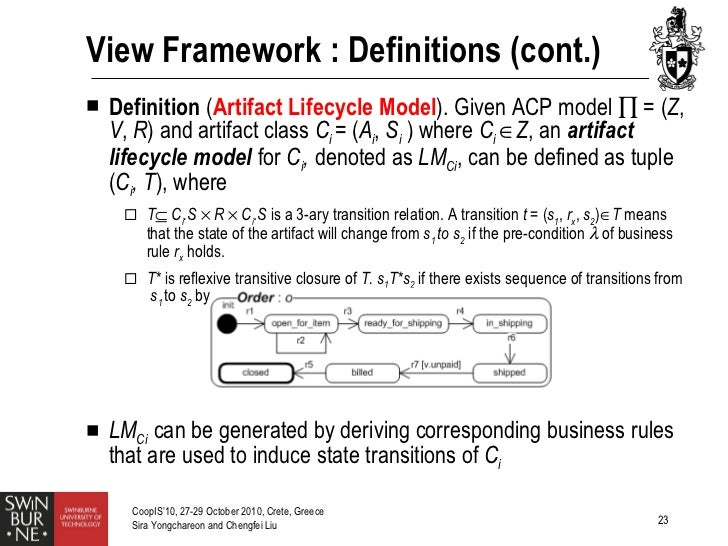 artifact centric business process models Diana borrego , rafael m gasca , maría teresa gómez-lópez, automating  correctness verification of artifact-centric business process models,.