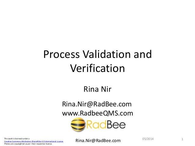 Validation vs verification fdating
