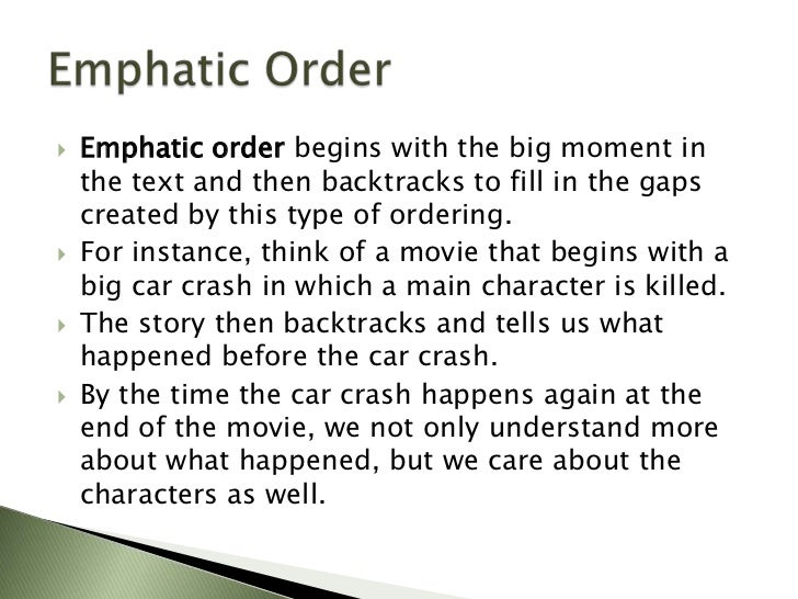 Emphatic order essay