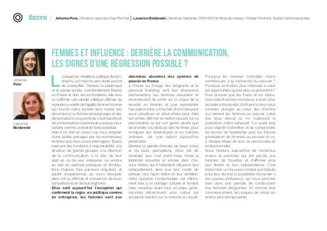 Etude Femmes & Influence - Entre perceptions et réalités - Avril 2018 Slide 2