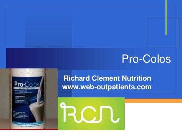 Company LOGO Pro-Colos Richard Clement Nutrition www.web-outpatients.com