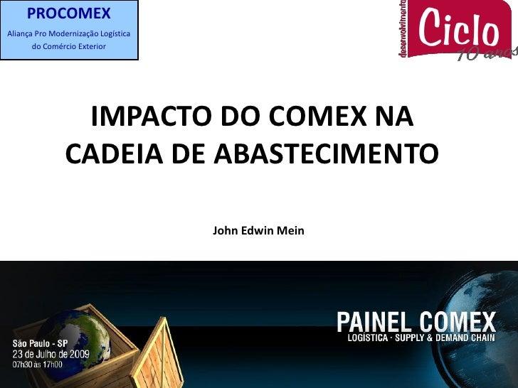 PROCOMEX Aliança Pro Modernização Logística       do Comércio Exterior                     IMPACTO DO COMEX NA            ...