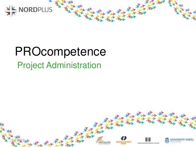 PROcompetence Project Administration 9.9.2013