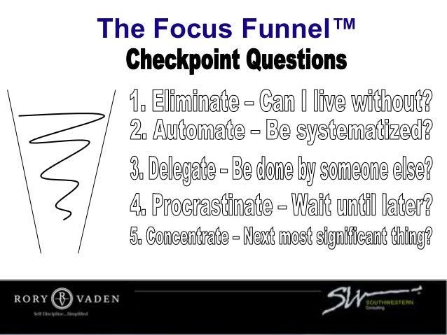 The Focus Funnel™