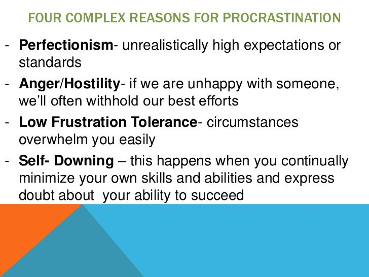 the issue of procrastination in students Issues that may have affected the results of the study ideas  course  procrastination was measured by examining when a student ehose to participate.