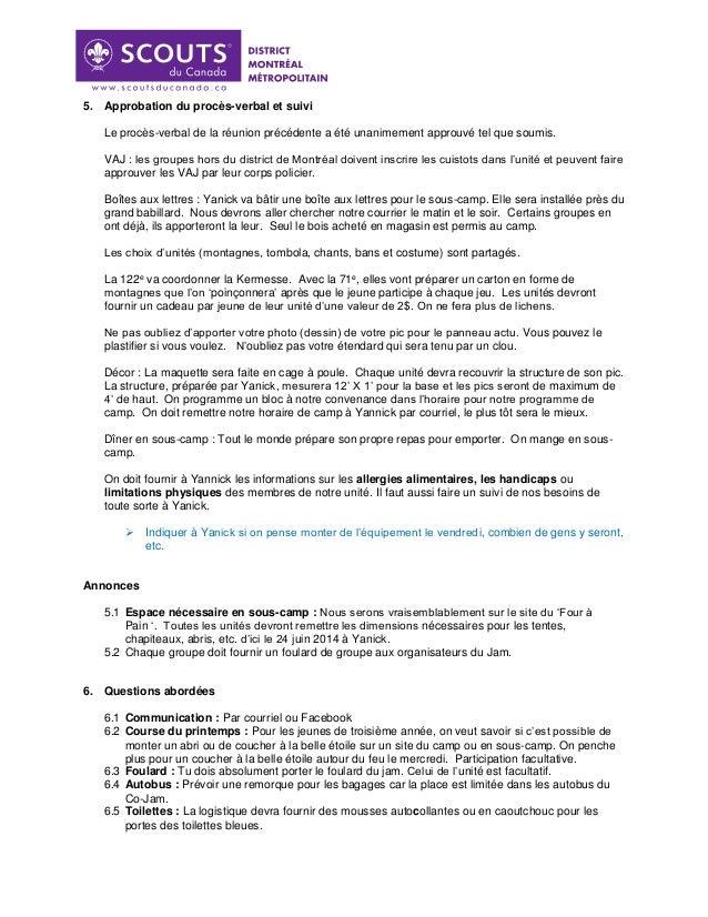 Procès verbal du 14 juin 2014 Slide 2