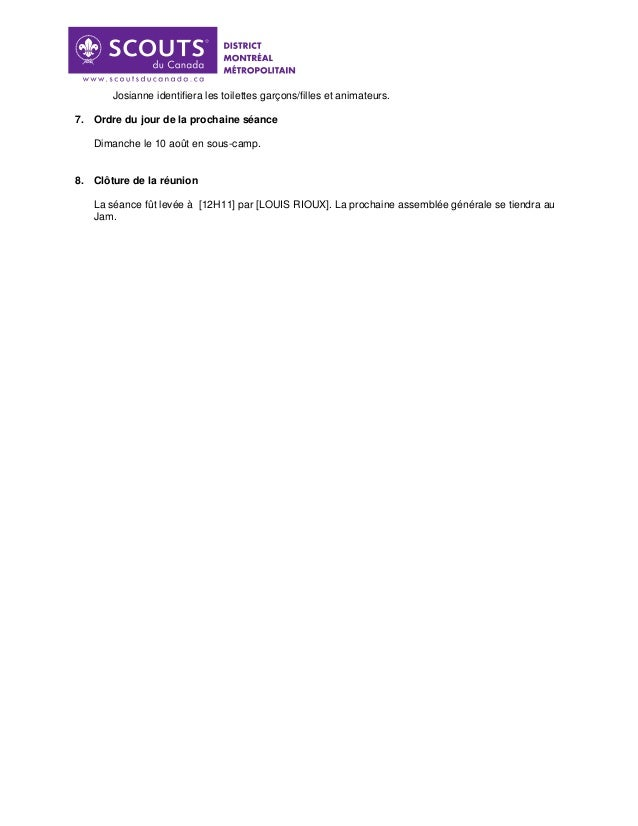 Procès verbal du 14 juin 2014 Slide 3