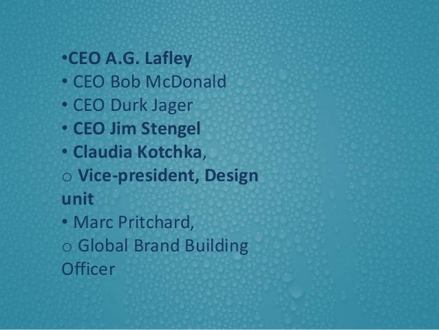 strategy implementation procter gamble company Procter and gamble company (p&g) is us's leading maker of household consumer products with its headquarters in downtown cincinnati ohio, p&g is.