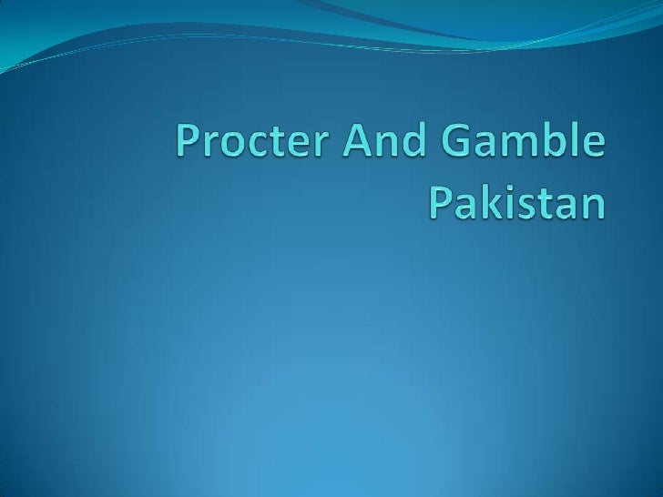 A Marketing Analysis of Procter & Gamble Corporation