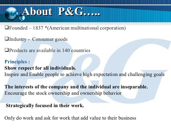 what is procter & gambles business strategy