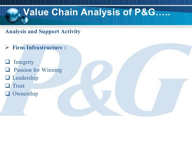 value chain analysis of procter and Microsoft value-chain analysis posted on may 11, 2017 by john dudovskiy value-chain analysis is an analytical framework that assists in identifying business activities that can create value and competitive advantage to the business.