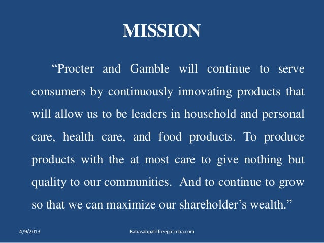 Procter & Gamble's Organizational Culture of Mission Fulfillment
