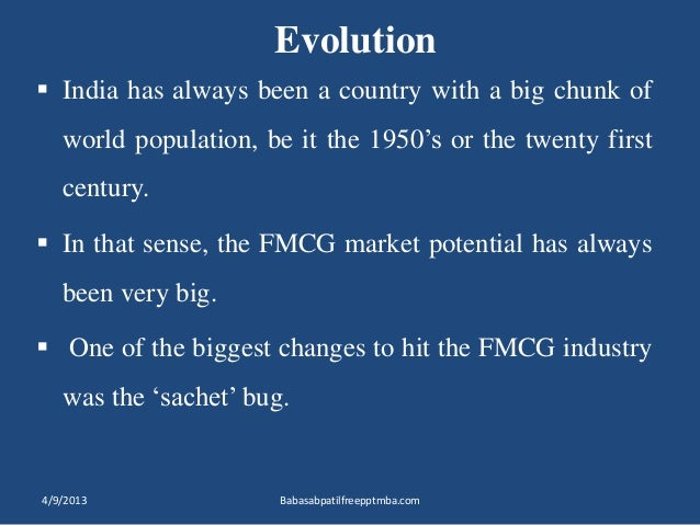 introduction to fmcg sector in india New possibilities of training in the fmcg sector  noida, india  team of one  of the largest players in the fmcg sector – which introduced.