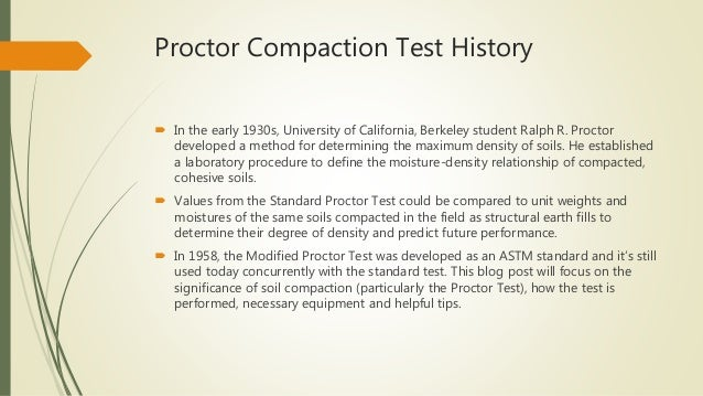 Proctor Compaction Test: A Basic Guide