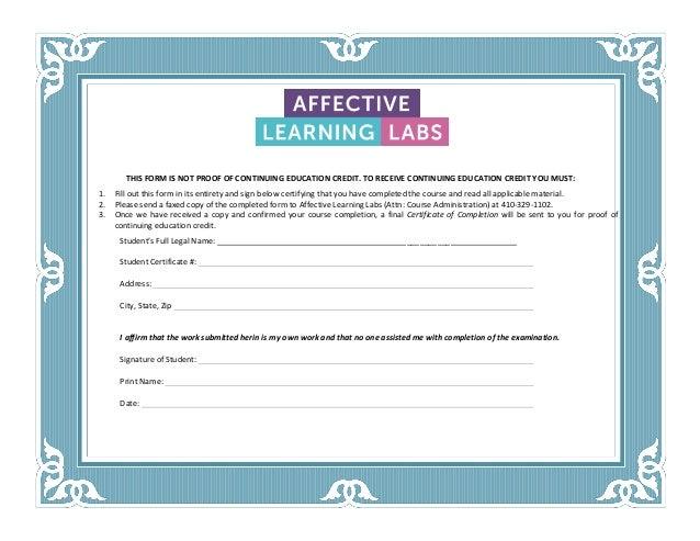 CA Proctor Form (Sample)