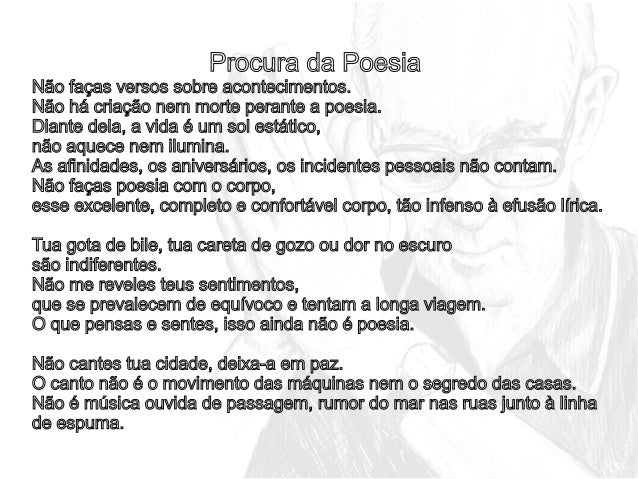 Excepcional Análise do poema: Procura da poesia - Carlos Drummond de Andrade JG27