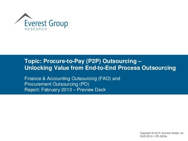 Topic: Procure-to-Pay (P2P) Outsourcing –Unlocking Value from End-to-End Process OutsourcingFinance & Accounting Outsourci...