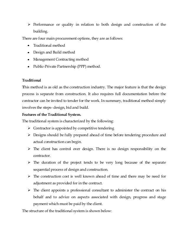 The 3 Procurement Methods: Advantages and Disadvantages