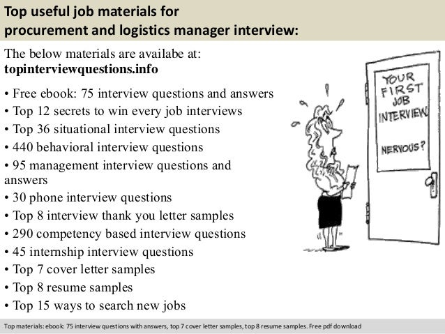 Free Pdf Download 10 Top Useful Job Materials For Procurement And Logistics Manager Interview