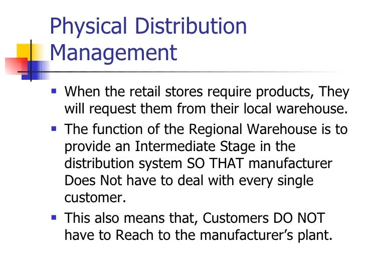 Dissertation on physical distribution system