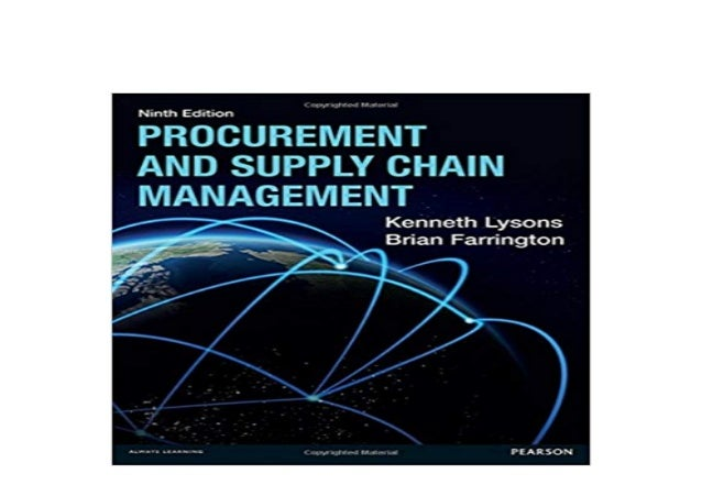 9th Edition Procurement and Supply Chain Management
