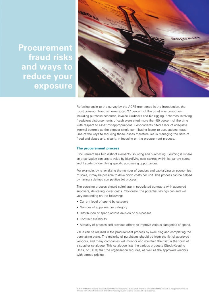corruption in procurement This guide draws extensively and builds on transparency international's 2006 handbook for curbing corruption in public procurement, for which thanks are owed to.