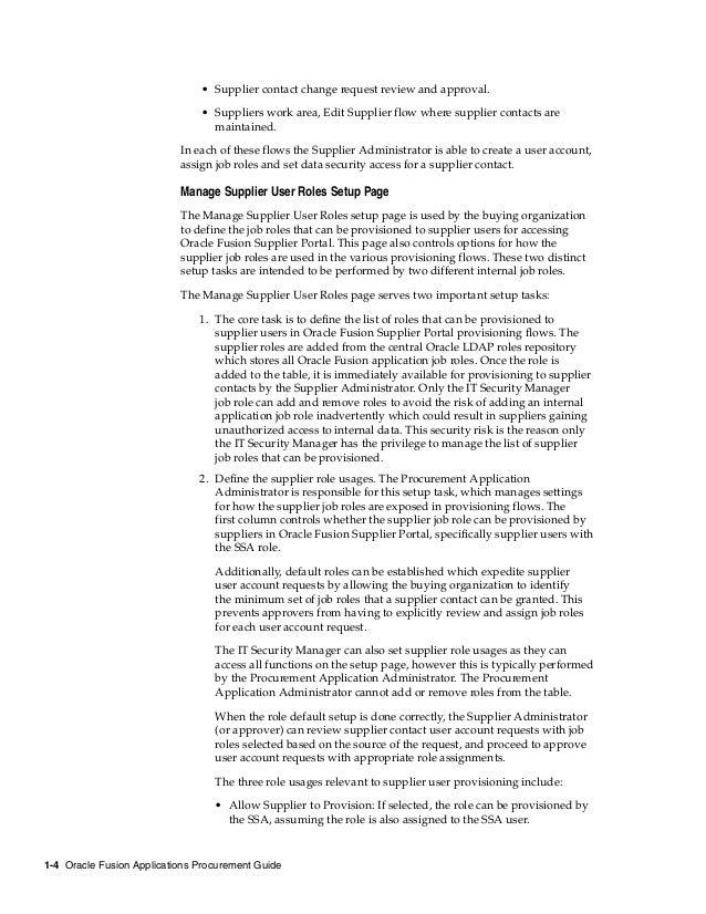 Oracle Fusion Procurement implementation guide