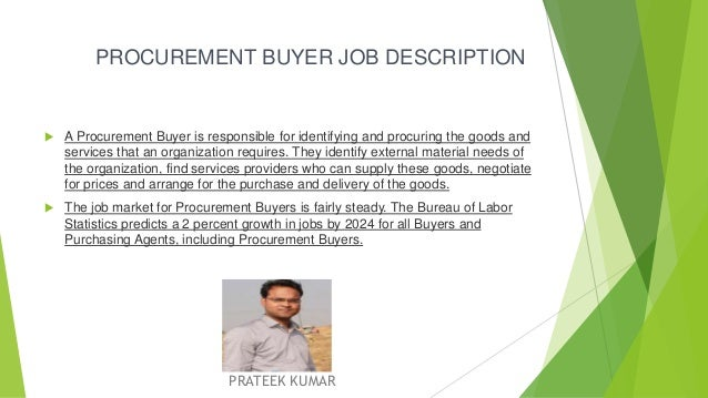 Procurement Incharge Or BuyerS Job