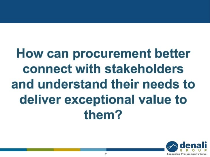 Procurement Is From Pluto Stakeholders Are From Saturn