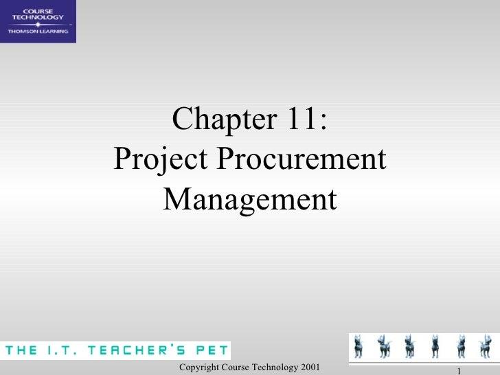 Chapter 11: Project Procurement Management