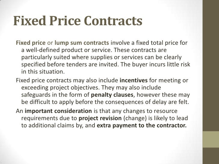 Procurement Ops - Lump sum contract template