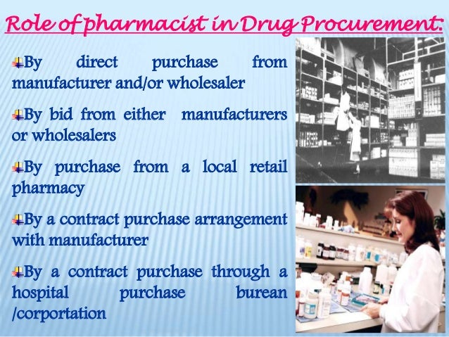 role of pharmacist in drug procurement 6 - Pharmacist Duties