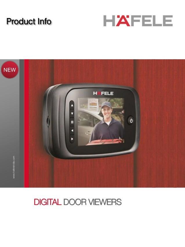 Product Info .hafeleindia.com DIGITAL DOOR VIEWERS KEEPTHEMLOCKEDOUT.  sc 1 st  SlideShare & Digital Door Viewer by Hafele