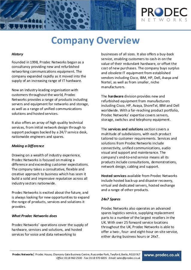 [Type text]                              Company OverviewHistory                                                          ...