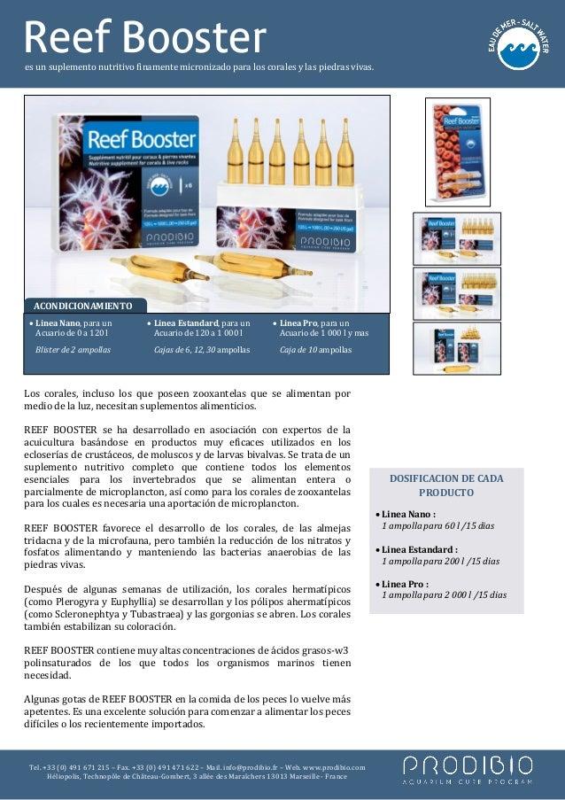 Reef Boosteres un suplemento nutritivo finamente micronizado para los corales y las piedras vivas. • Linea Nano, para un  ...