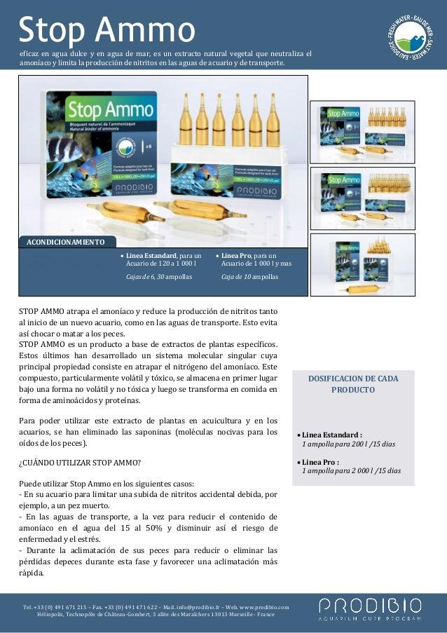 Stop Ammoeficaz en agua dulce y en agua de mar, es un extracto natural vegetal que neutraliza elamoníaco y limita la produ...