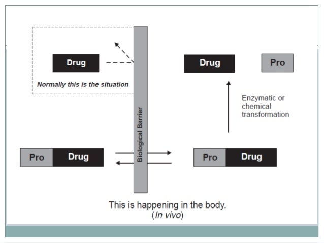 Ideal Requirements of Prodrugs  1. The prodrug is inactive or less active than the parent compound  2. The linkage between...