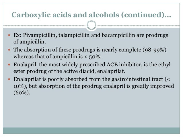 4. Carbonyl compounds  Carbonyl compounds such as aldehydes and ketones are converted to prodrugs.  These have generally...
