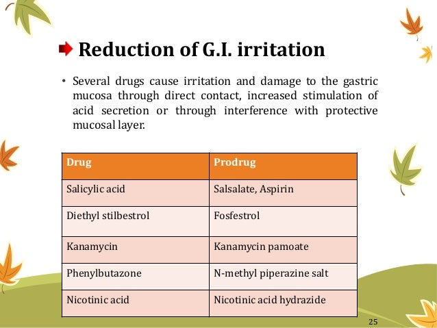 Reduction of G.I. irritation • Several drugs cause irritation and damage to the gastric mucosa through direct contact, inc...