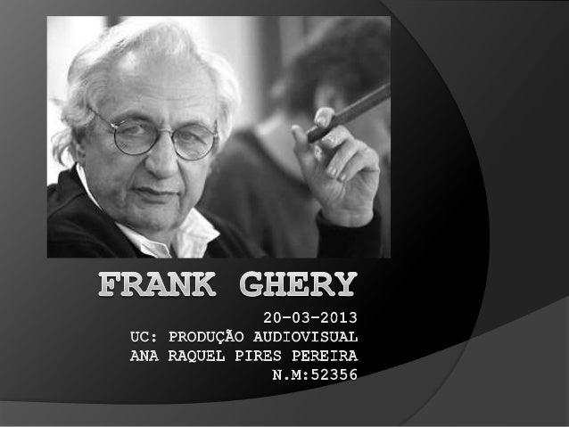 Biografia   1929 nasceu em Toronto;   1949 a 1951, UCLA. 1956-1957 Harvard;   1955 e 1956 Robert e Company Architects A...