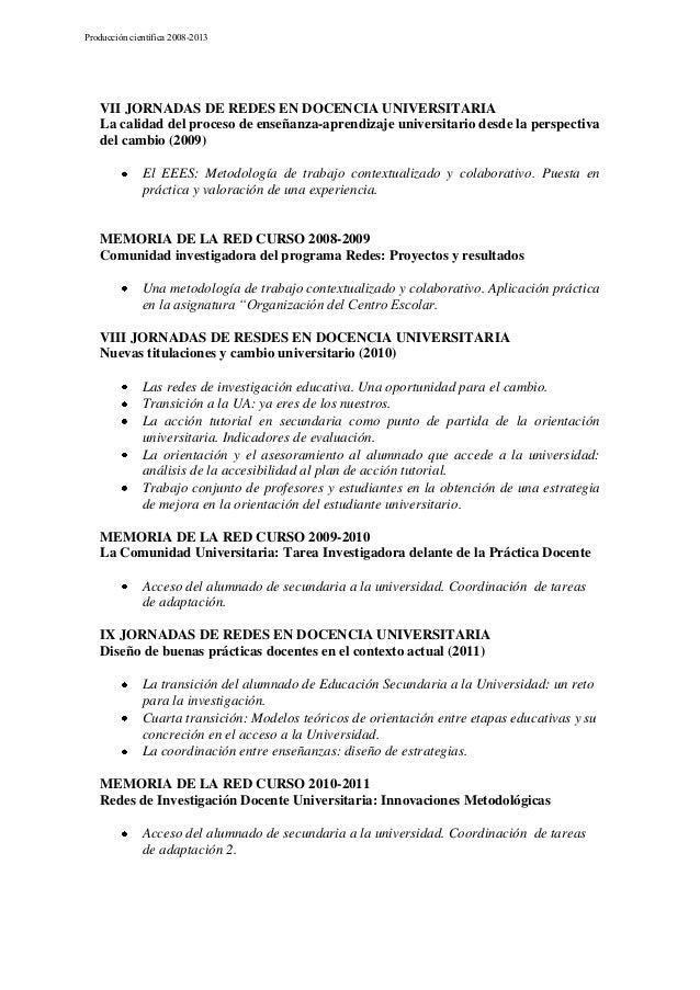 Producción cientifica de la Red (2009-2013) Slide 2
