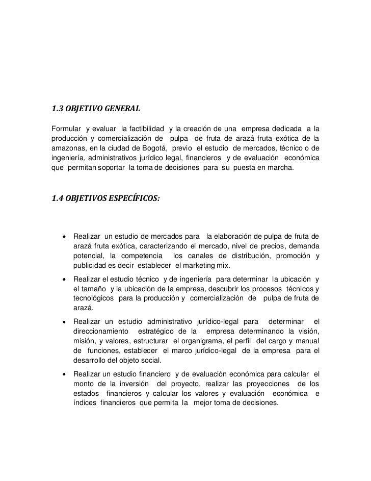 Producción Y Comercialización De Pulpa De Fruta De Arazá