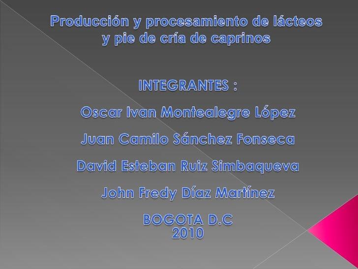    ESTE PROYECTO PRETENDE INNOVAR EN EL                     MERCADO DE LACTEOS Y SUS                     PRODUCTOS DERIVA...