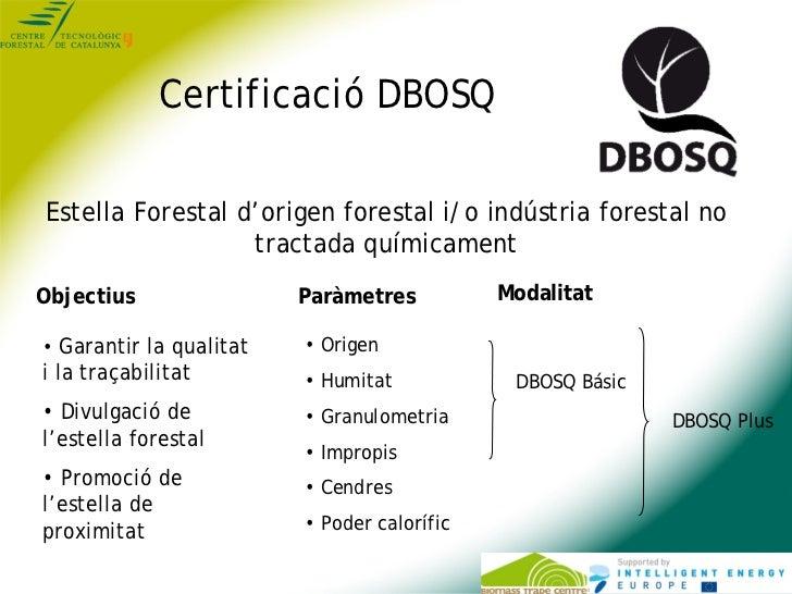 Certificació DBOSQEstella Forestal d'origen forestal i/o indústria forestal no                  tractada químicamentObject...