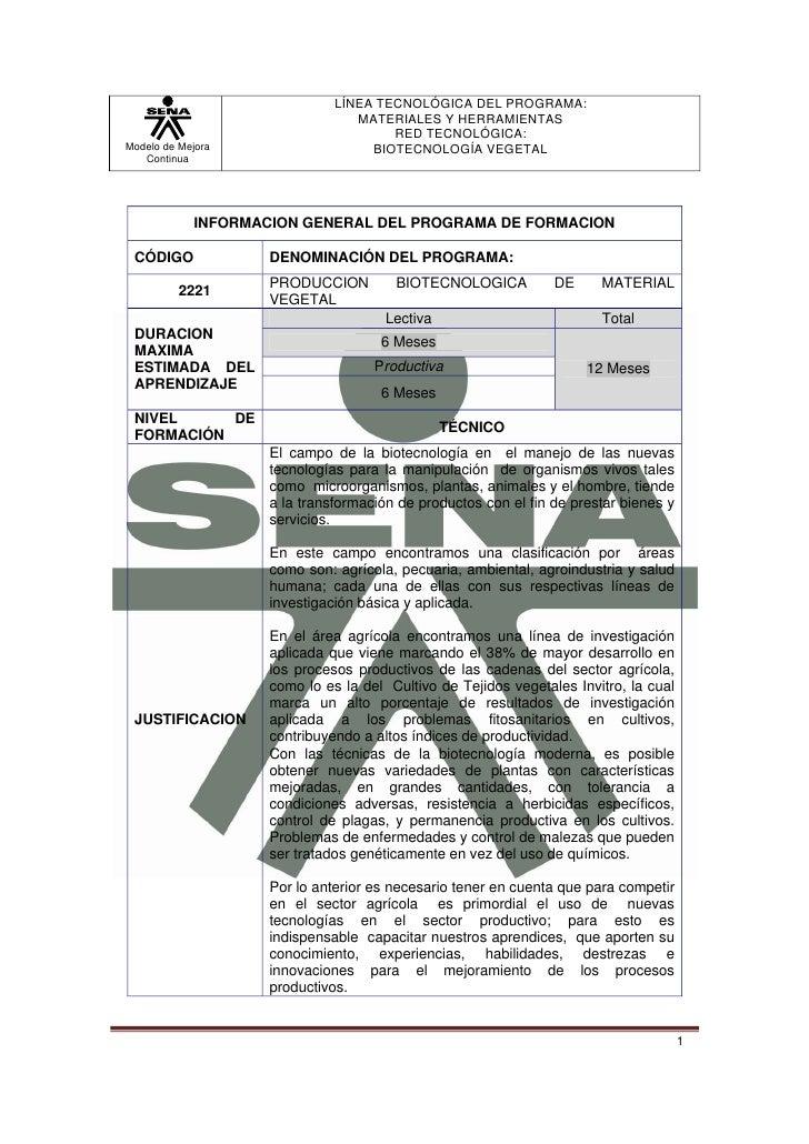 LÍNEA TECNOLÓGICA DEL PROGRAMA:                                 MATERIALES Y HERRAMIENTAS                                 ...