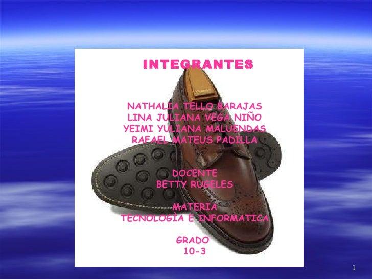 INTEGRANTES   NATHALIA TELLO BARAJAS LINA JULIANA VEGA NIÑO YEIMI YULIANA MALUENDAS RAFAEL MATEUS PADILLA DOCENTE BETTY RU...